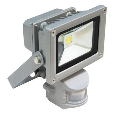 LED Прожектор 10W 6500K (+датчик)