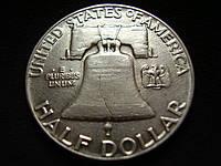 50 центов США с изображением Франклина, серебро, 1952 года, фото 1