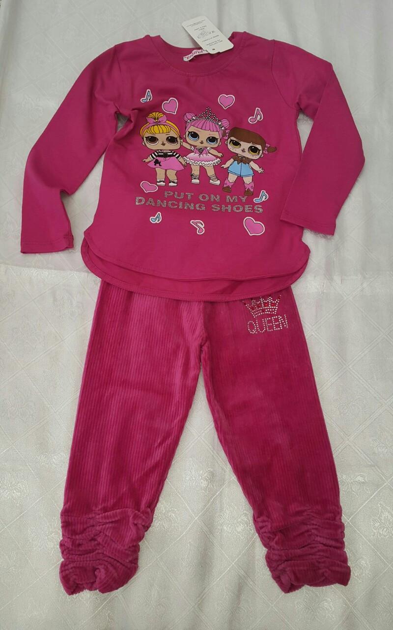 Модный реглан для девочек 92-98-104-110-116 роста Куклы LOL