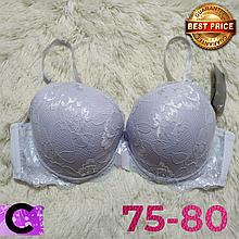 Белый бюстгальтер на поролоне кружевной женский лифчик чашка (C) 75~80 на 2 крючка 8309