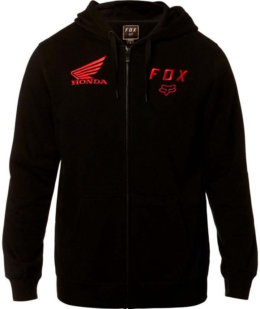 Толстовка Fox Honda ZIP Fleece чорний, L