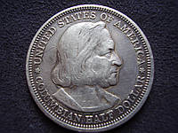 Монета 50 центов США 1893г. «Всемирная выставка в Чикаго, Колумб» Серебро 900 пр., фото 1