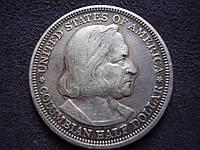 Монета 50 центов США 1893г. «Всемирная выставка в Чикаго, Колумб» Серебро 900 пр.
