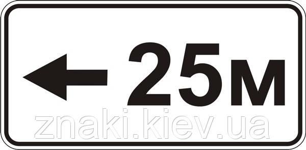 7.2.6 Зона действия, дорожные знаки