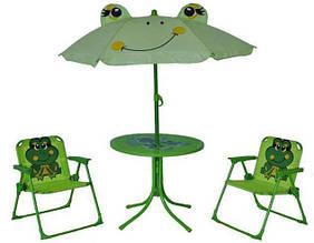 "Летний набор стол + 2 стула ""Жабка"""