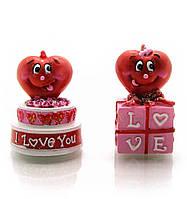"""Фигурка """"сердечко на торте"""" (5х4х4 см)(w845219)"""