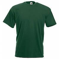 Футболка мужская однотонная 100% хлопок темно зеленая бутылочная