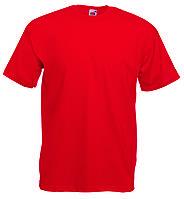 Футболка мужская однотонная 100% хлопок красная