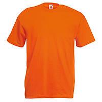 Футболка мужская однотонная 100% хлопок оранжевая