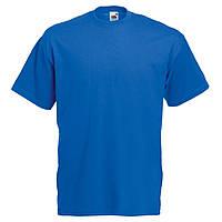 Футболка мужская однотонная 100% хлопок ярко синяя электрик