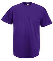 Футболка мужская однотонная 100% хлопок фиолетовая