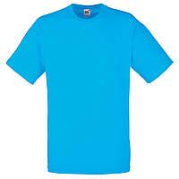 Футболка мужская однотонная 100% хлопок ярко голубая