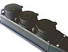 Розетка тройная каучук 1х16А (8) MUTLUSAN
