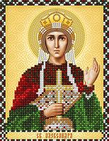 """Схема на ткани для вышивки """"Св. Александра"""""""