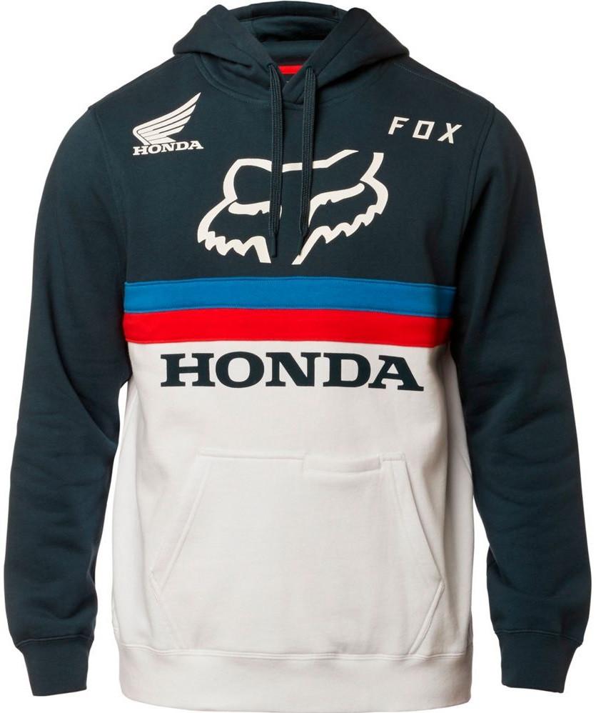 Толстовка Fox Honda Pullover Fleece біло-синя, L