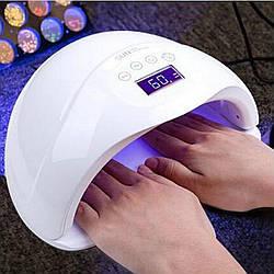 Лампа для манікюру, SUN 5 48W UV led, 48 Вт, лампа для нігтів Сан 5 гібридна