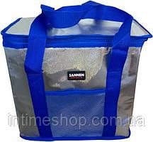🔝 Термосумка холодильник, изотермическая, 25 л., Sannea Cooler Bag, для еды, цвет - синий | 🎁%🚚