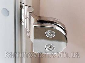 Стеклянная дверь для бани и сауны GREUS Classic прозрачная бронза 70/190 липа, фото 2