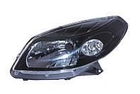 Фара левая Dacia Logan I, Sandero I 2007 - 2012, механ./электр., темный корпус, (Depo, 551-1170L-LDEM2) OE 8200733878 - шт.