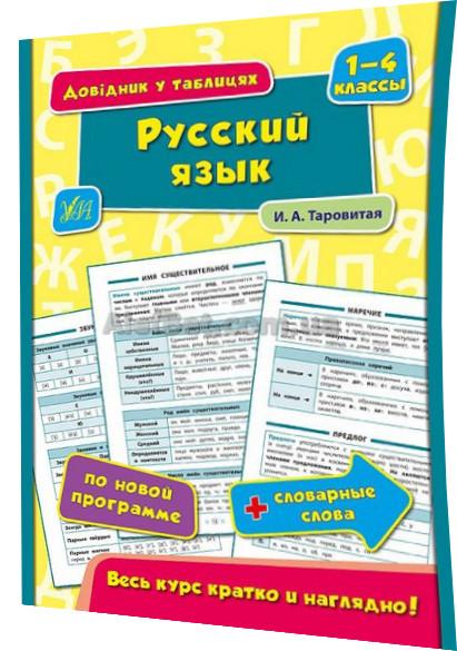 1-4 класс / Русский язык. Довідник у таблицях / Таровита / Ула