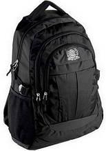 Городской рюкзак Continent BP-001BK, тканевый, черный, 28л