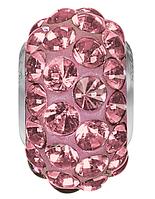 Шармы в стиле Pandora Swarovski Antique Pink (упаковка 12 шт)