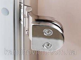Стеклянная дверь для бани и сауны GREUS Magnet прозрачная бронза 70/200 липа, фото 2