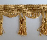 Тесьма-бахрома золото 7,5см моток 16м