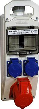 Щит з розетками 5 мод, 32А 3Р+Z 400V 2x16A 2P+Z 250V E. NEXT (364)