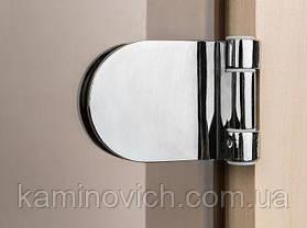 Стеклянная дверь для бани и сауны GREUS Magnet прозрачная бронза 70/200 липа, фото 3
