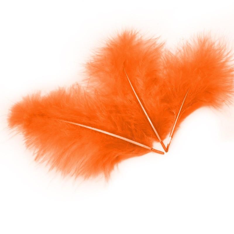 Перья для воздушных шаров и декора оранжевые, 10 грамм (100 штук)