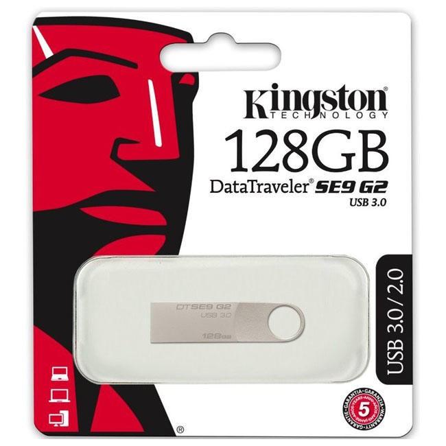USB 3.0 Флешка на 128 ГБ Kingston SE9 G2 самая недорогая металлическая