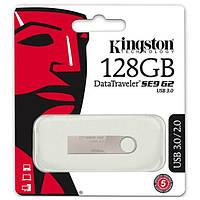 USB 3.0 Флешка на 128 ГБ Kingston SE9 G2 самая недорогая металлическая , фото 1