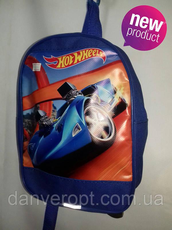 Рюкзак детский со стильным принтом HOT WHEELS для мальчика размер 27х20 купить оптом со склада 7км Одесса