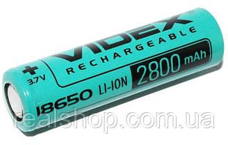 Аккумулятор Videx 18650  2800 mAh без защиты Li-Ion 3.7v