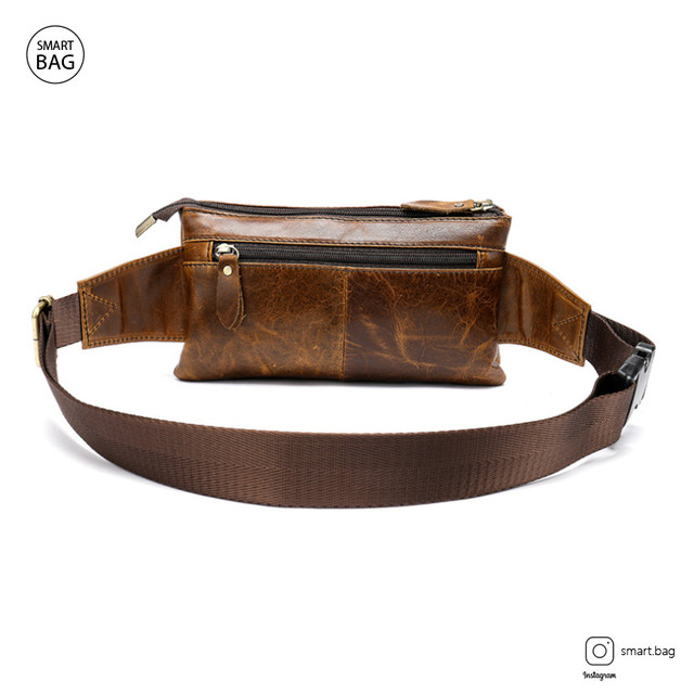 Кожаная поясная сумка Marrant | коричневая