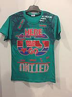 Подростковая футболка с 3Д принтом для мальчика 134,152 см