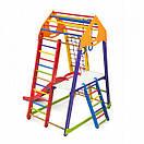 Акция! Деревянный Детский спортивный комплекс для квартиры с горкой Спорбейби BambinoWood Color Plus 2, фото 6