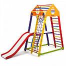 Акция! Деревянный Детский спортивный комплекс для квартиры с горкой Спорбейби BambinoWood Color Plus 2, фото 3