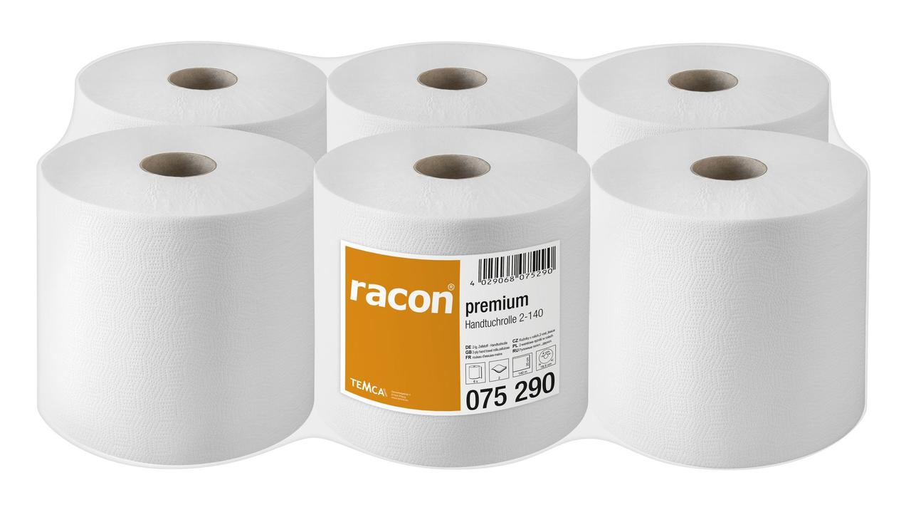 Полотенца бумажные в рулоне TEMCA Racon Premium 2-х слойные, 20см х 140м