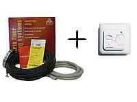 Arnold Rak двужильный кабель  + терморегулятор In-therm RTC 70.26 ( Комплект)