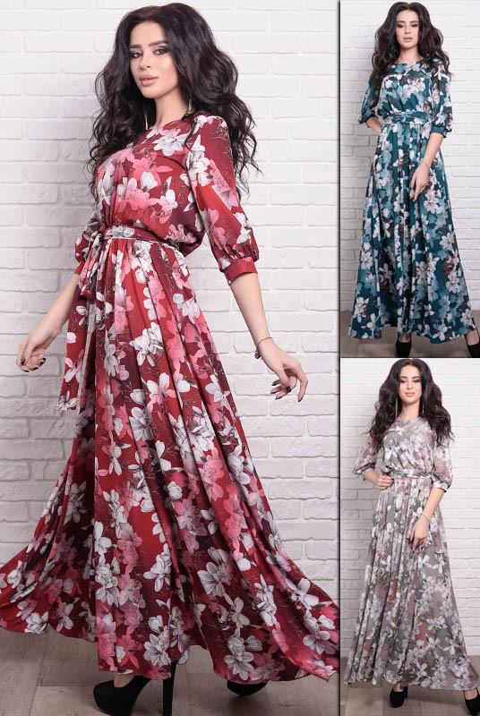 Длинное женское платье Ванесса Лилия
