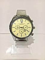 Мужские наручные часы Tomy Hiifiger (Томми Хилфигер), cеребристо-желтый цвет ( код: IBW188SY )