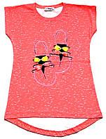 """Удлиненная футболка для девочки 9-10 лет (рост 140), """"Atabay"""" Турция"""