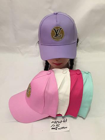 Літня дитяча кепка для дівчинки р. 52 100% cotton, фото 2