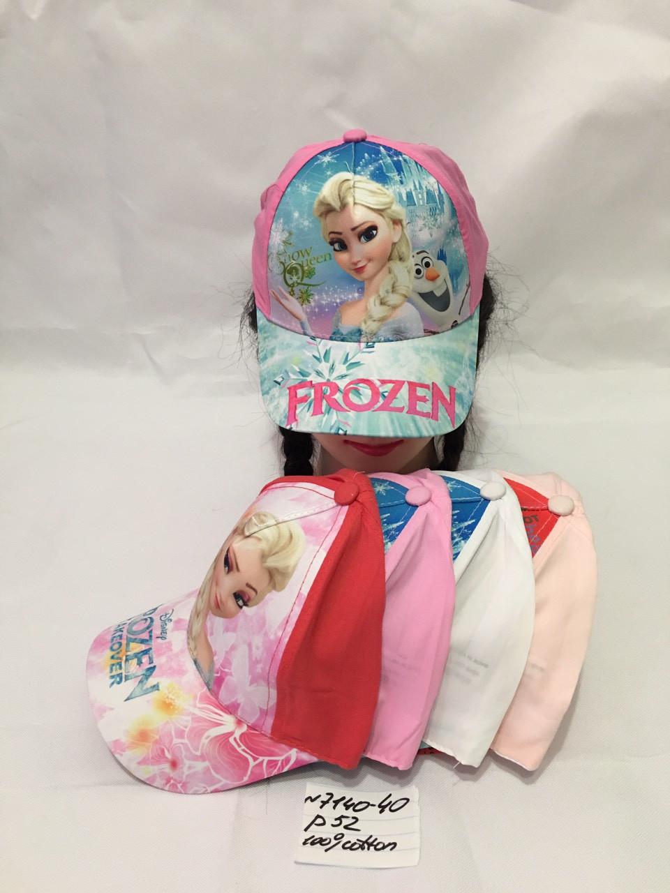 Літня дитяча кепка для дівчинки Frozen р. 52 100% cotton