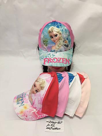 Літня дитяча кепка для дівчинки Frozen р. 52 100% cotton, фото 2