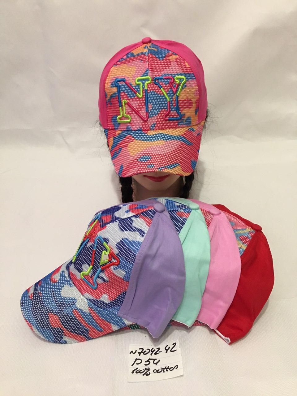 Стильная летняя детская кепка для девочки р.54 100% cotton