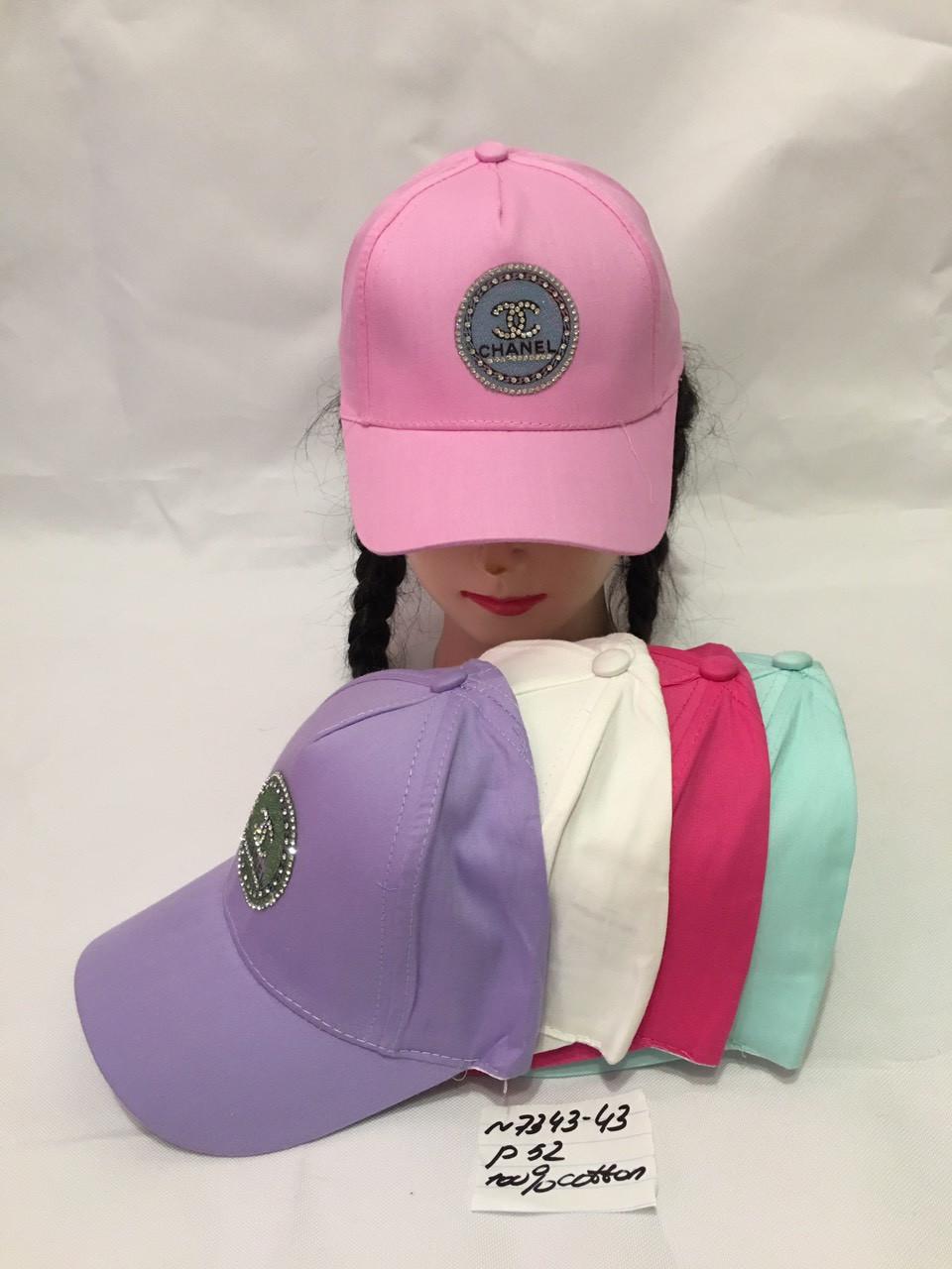 Стильная летняя детская кепка для девочки р.52 100% cotton