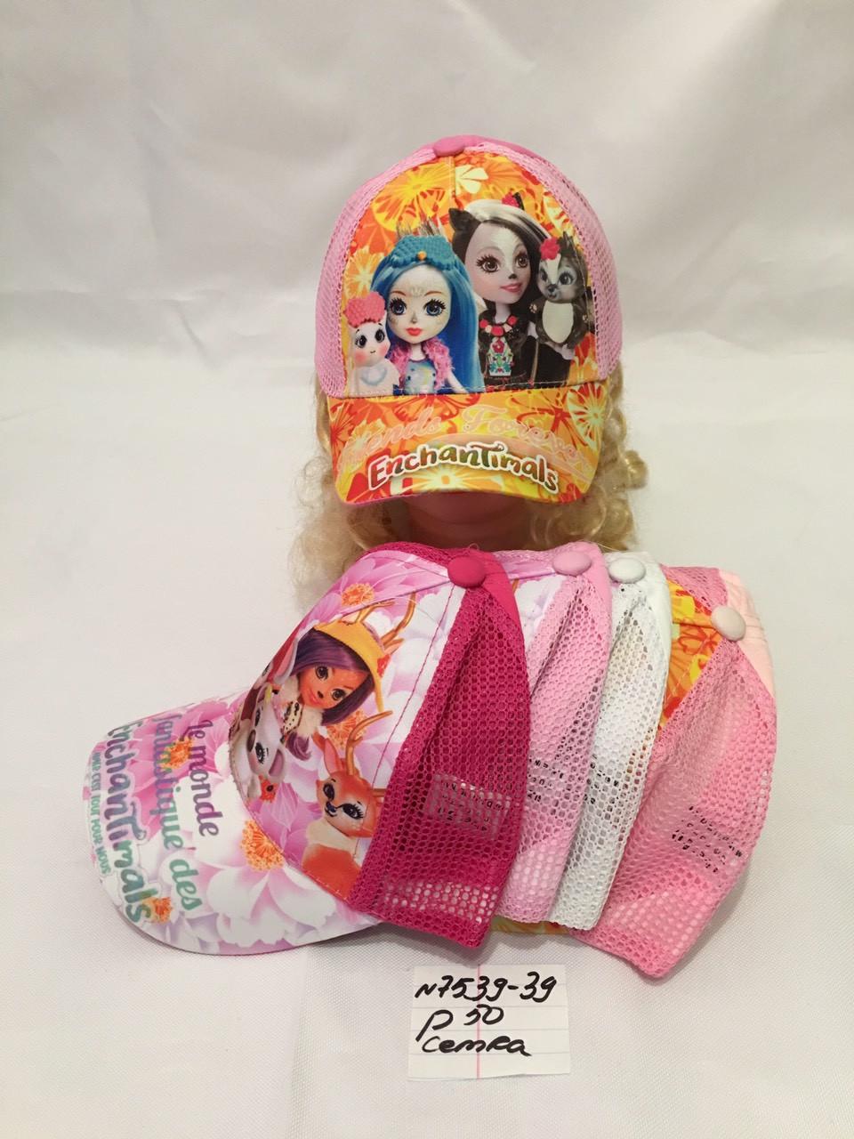 Стильная летняя детская кепка для девочки р.52 100% cotton -сетка